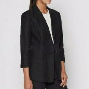 Joie Black Lian Pleated Blazer Size 8 Like New